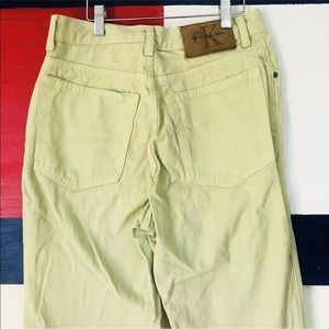 Vintage Calvin Klein CK Yellow Cream Denim Jeans